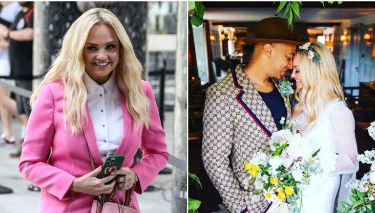 Pirmo reizi dzīvē apprecējusies Emma no 'Spice Girls'