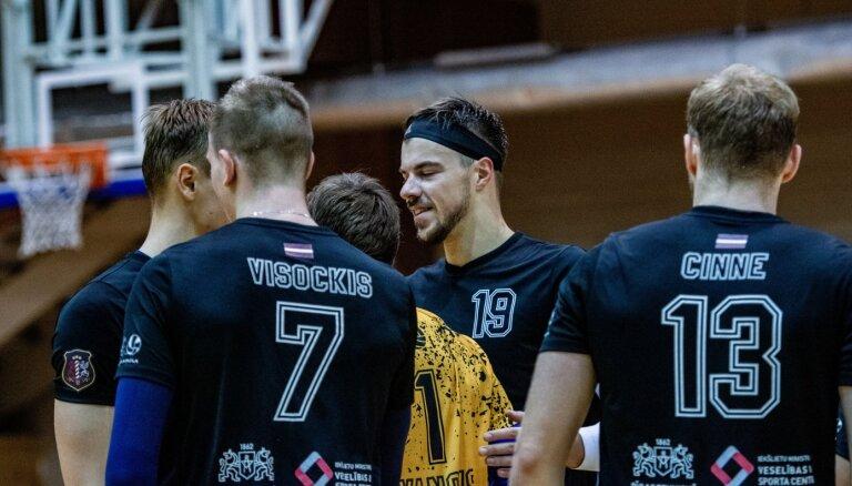 'Credit24' volejbola meistarlīga: 'RTU/ Robežsardze' piecos setos uzvar Jelgavas klubu