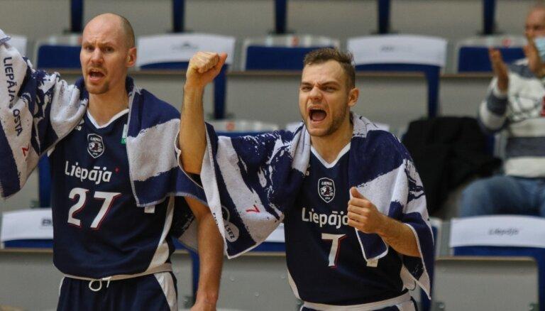 BK 'Liepāja' savā laukumā pārspēj 'Latvijas Universitāti'