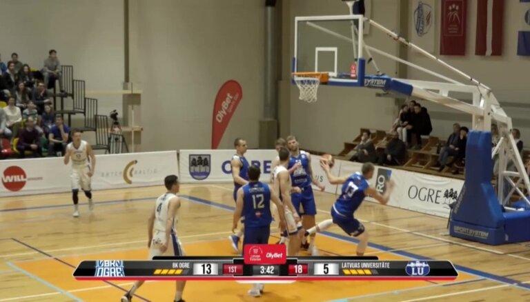 'OlyBet' basketbola līga: 'Ogre' - LU. Spēles labākie momenti
