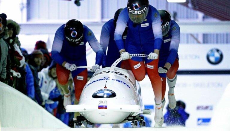 Stūmēju trūkuma dēļ Krievija Phjončhanā startēs tikai ar vienu bobsleja četrinieku ekipāžu