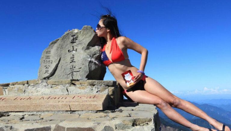 Atbalstītāji sēro par taivāniešu 'bikini alpīnistes' traģisko nāvi