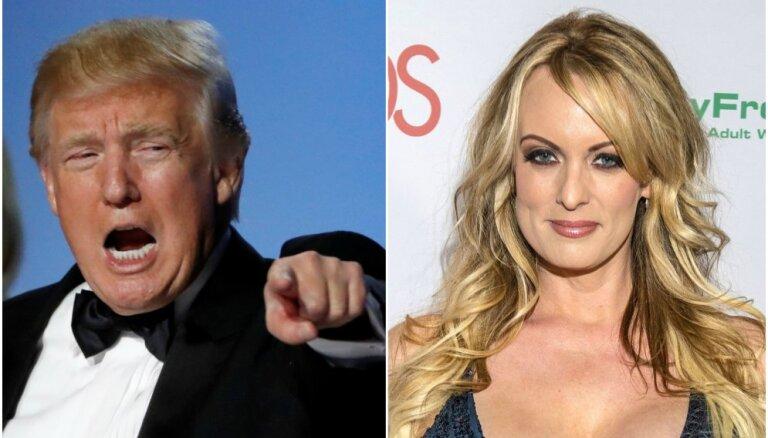 Pornozvaigzne dēkas ar Trampu dēļ saņēmusi draudus