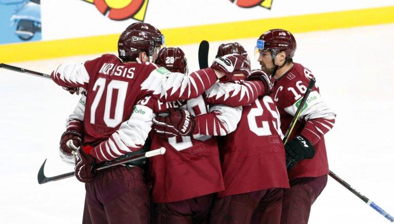 Latvijas hokeja izlase aizvadīs svarīgu spēli pret Norvēģiju