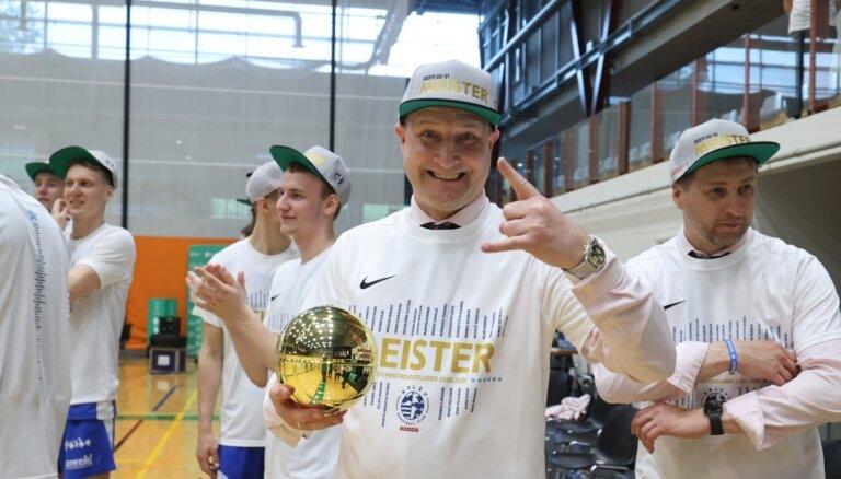Štelmahers, Kaufmanis un Vairogs triumfē Igaunijas Basketbola līgā