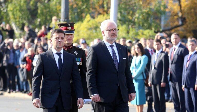 Foto: Ukrainas prezidenta Zelenska vizīte Latvijā