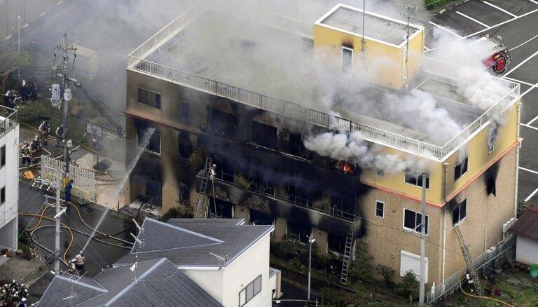 Aizdedzināta animācijas studija Japānā; 33 bojāgājušie