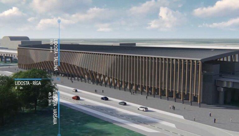 ФОТО: готов проект станции Rail Baltica в рижском аэропорту