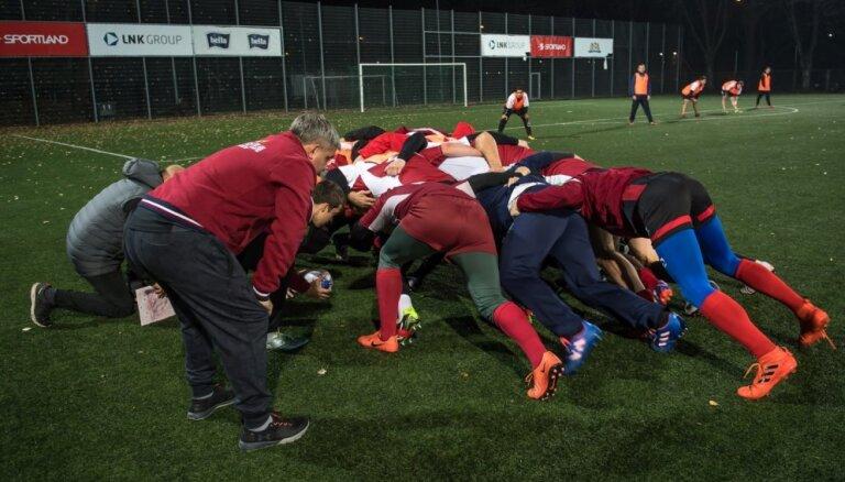 Foto: Latvijas regbisti briest cīņai pret somiem