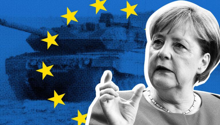 'Delfi' no Strasbūras: Merkeles piesauktā 'īstā Eiropas armija' ir ļoti tāls mērķis