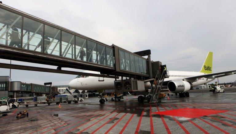 Arī sestdien atcelti 'airBaltic' reisi starp Briseli un Rīgu