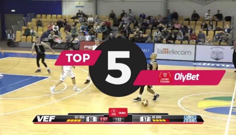 'OlyBet' basketbola līgas TOP5 (28.12.2018.)