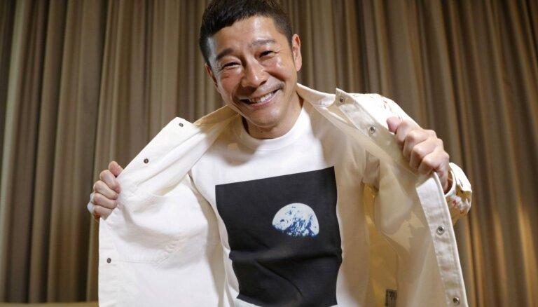 Japāņu miljardieris uzaicina astoņus māksliniekus ceļojumā ap Mēnesi
