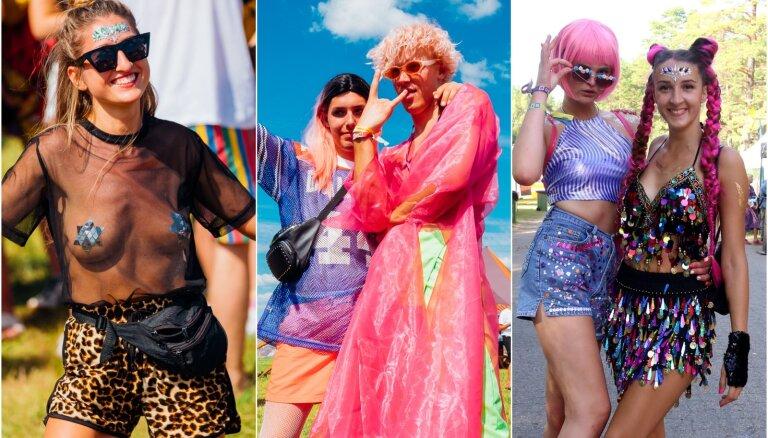 Neons, kailums un gliteri: 'Positivus' ballētāju stila pērles