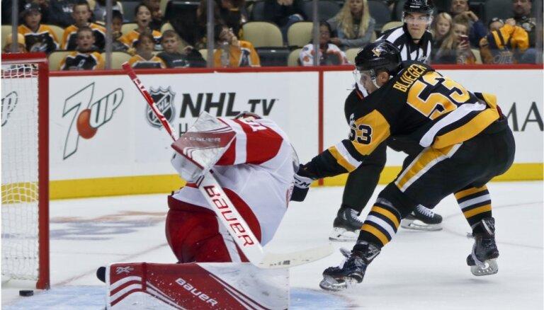 Bļugers gūst vārtus NHL pārbaudes spēlē un tiek nosūtīts uz AHL