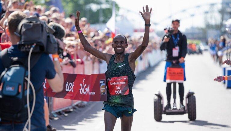 'Tet' Rīgas maratonā uzvar etiopieši; Prokopčuka nefinišē