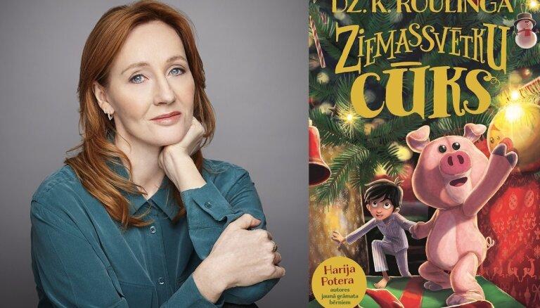 Latvijā iznākusi 'Harija Potera' autores jaunā bērnu grāmata 'Ziemassvētku Cūks'