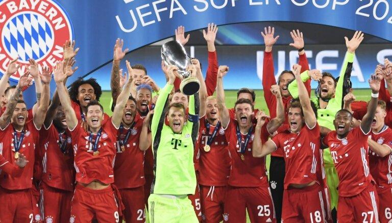 UEFA Superkausu Budapeštā papildlaikā iegūst 'Bayern'