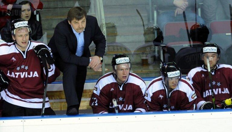 Latvijas hokeja izlasei izvirzīts pieticīgs mērķis – izkļūt no apakšgrupas