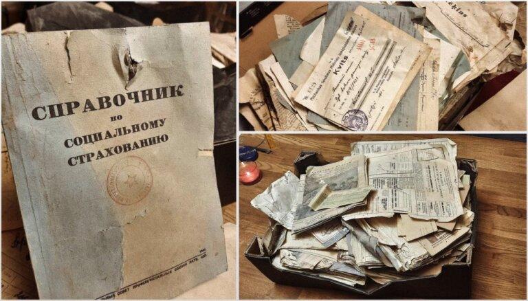Liepājā remontdarbu laikā atrod unikālus dokumentus par padomju okupāciju 1940. gadā