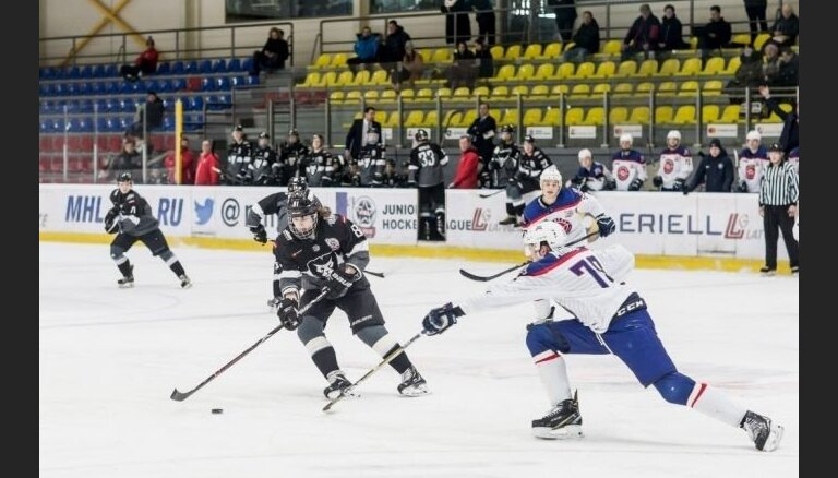 'Rīgas' hokejisti MHL mačā uzvar 'Kapitan'