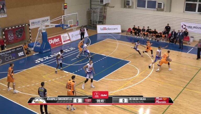 'Jēkabpils'/'SMScredit.lv' komanda piedzīvo kārtējo zaudējumu Latvijas-Igaunijas Basketbola līgā
