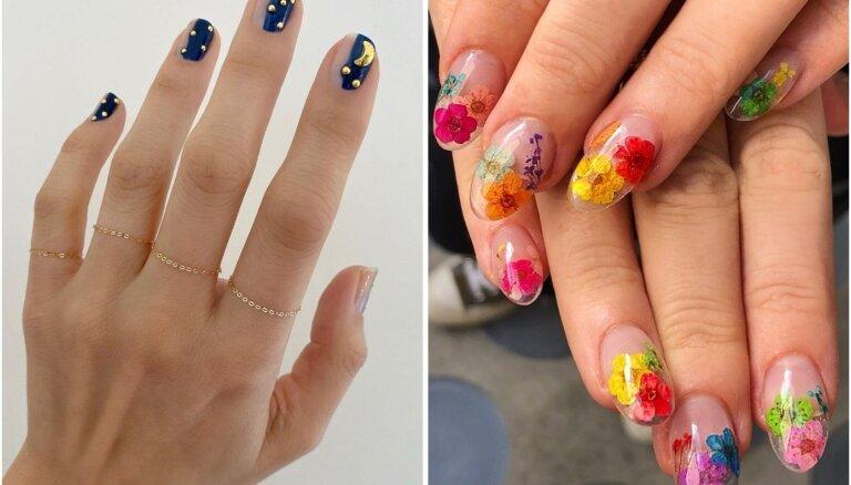 Vasaras sajūta uz nagiem: kādi raksti un dizaini aktuāli šogad