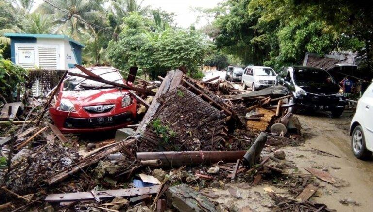 Nav ziņu par Indonēzijas cunami cietušiem Latvijas valstspiederīgajiem