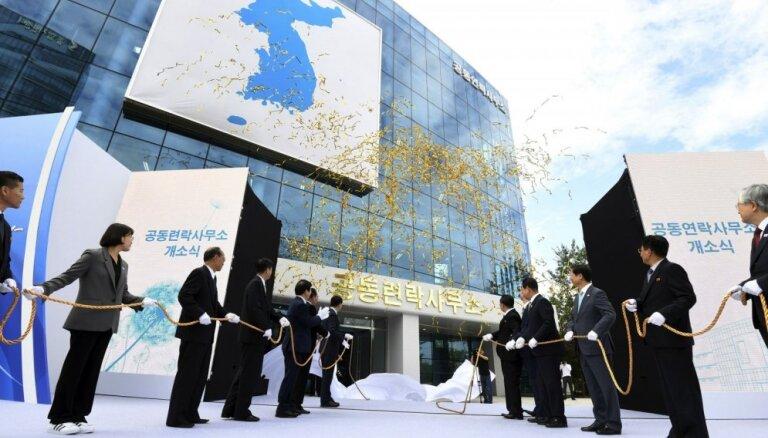 Ziemeļkorejas delegācija pametusi abu Koreju sakaru biroju