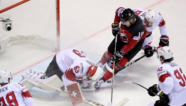 Канадцы спаслись за 0,4 секунды до сирены в четвертьфинале со швейцарцами