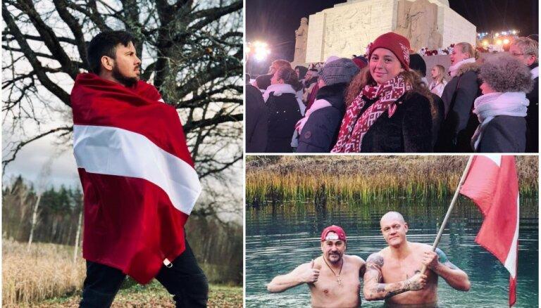 Raibi foto: Kā pašmāju slavenības Latvijas simtgadi godināja