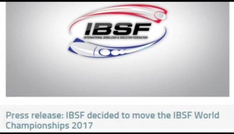 Dukuri saklausīti: IBSF atceļ pasaules čempionātu Sočos