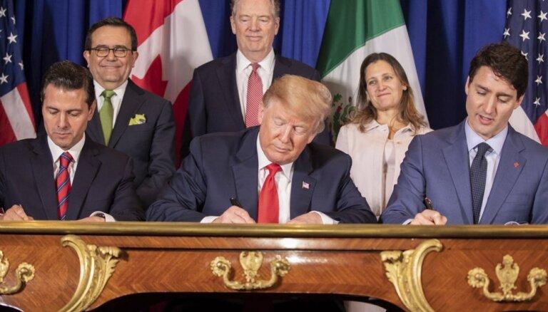 ASV, Kanāda un Meksika paraksta jaunu brīvās tirdzniecības līgumu