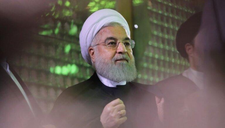 Rouhani Irānas iekšējās grūtībās atradis vainīgo - ASV