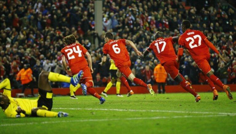 'Liverpool' skaisti atspēlējas pret 'Borussia' un iekļūst Eiropas līgas pusfinālā