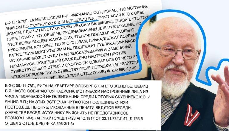 'Maisi vaļā': Vervētāji jau uzreiz bija klāt – Knuts Skujenieks par disidentiem, lēģeriem un VDK