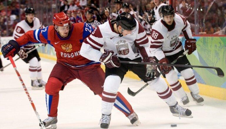 Сегодня хоккеисты сборной Латвии сыграют с Россией