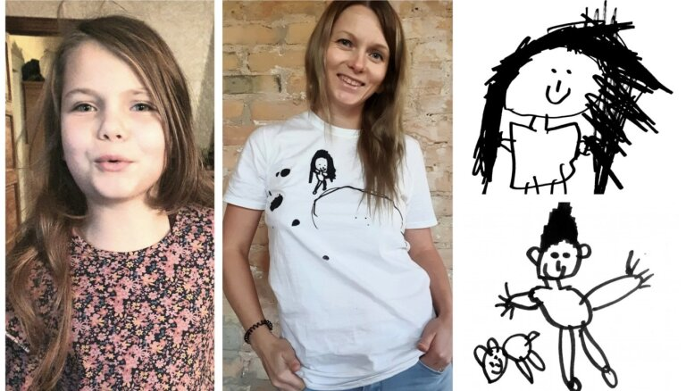 'Meita kļūst atvērtāka!' T krekli ar Kates zīmējumiem palīdzēs autisma rehabilitācijā