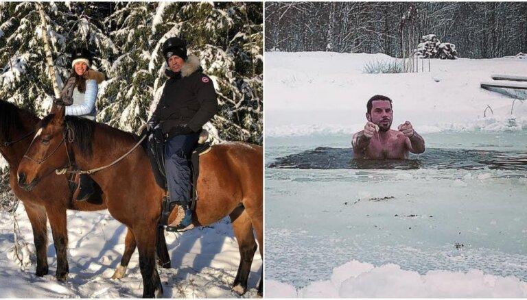 Privāti kadri: Kā pašmāju slavenības sniegotās brīvdienas pavadīja