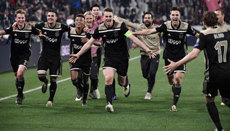 'Ajax' Čempionu līgas pusfinālā: Nīderlandes čempionāts pielāgojas un pārceļ kārtu