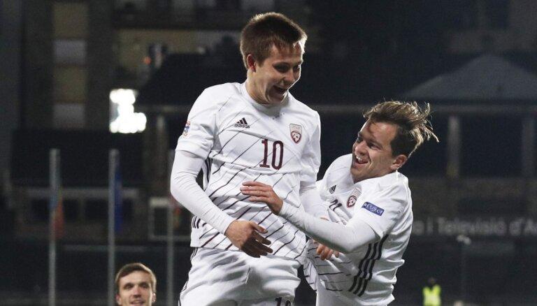 Latvijas futbolisti ar piecu vārtu birumu noslēdz Nāciju līgas ciklu