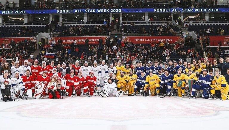 Dārziņš ar Bobrova divīzijas komandu uzvar KHL Visu zvaigžņu spēlē