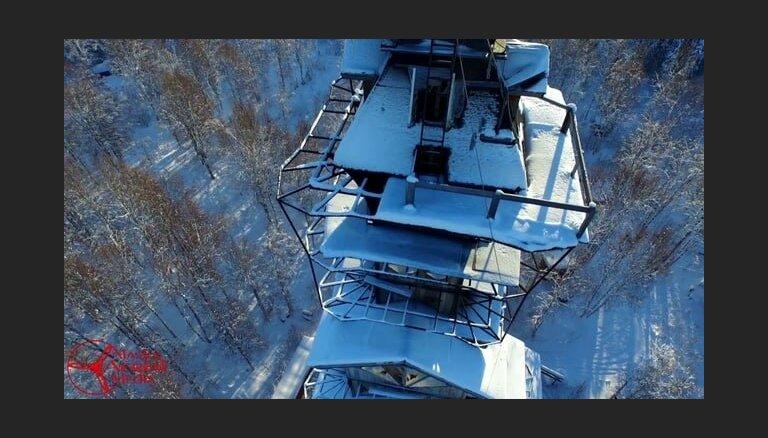 """ФОТО: Загадочный """"небоскреб"""" на Аляске или где на самом деле жила семья Рона Уизли"""