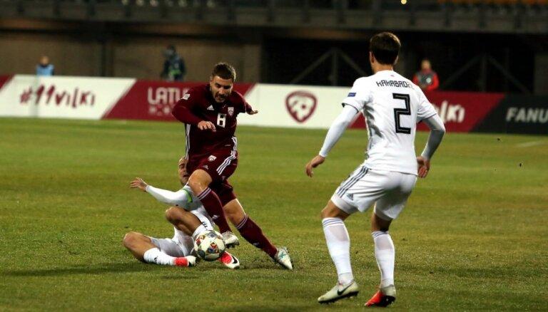 Latvijas futbola izlase FIFA rangā pazaudējusi vēl vienu pozīciju