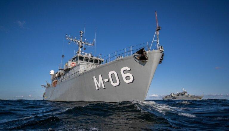 Jūras spēki mācībās 'Namejs' veic uzdevumus ostās, piekrastē un jūrā