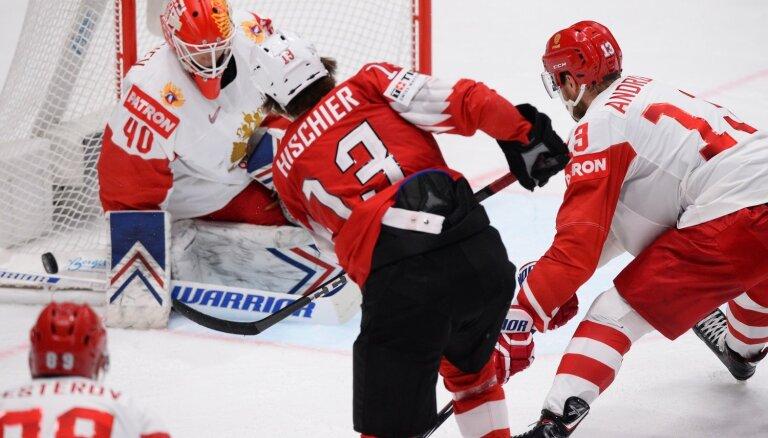 Video: Krievijas hokejistiem ceturtā 'sausā' uzvara turnīrā