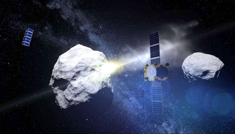 NASA un EKA plāno nelielā mēnesī ietriekt kosmosa kuģi, izmainot tā orbītu