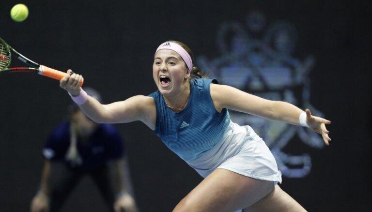 Ostapenko netiek pie otrās uzvaras gadā un izstājas no Sanktpēterburgas turnīra