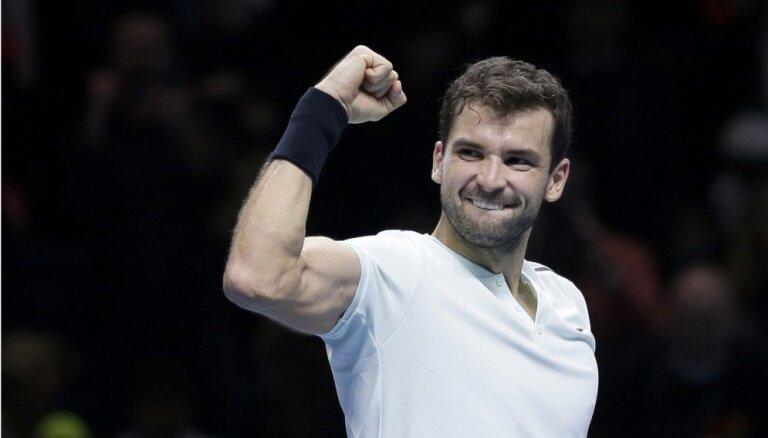 Bulgārs Dimitrovs kļūst par Gofēna pretinieku ATP sezonas noslēguma turnīra finālā