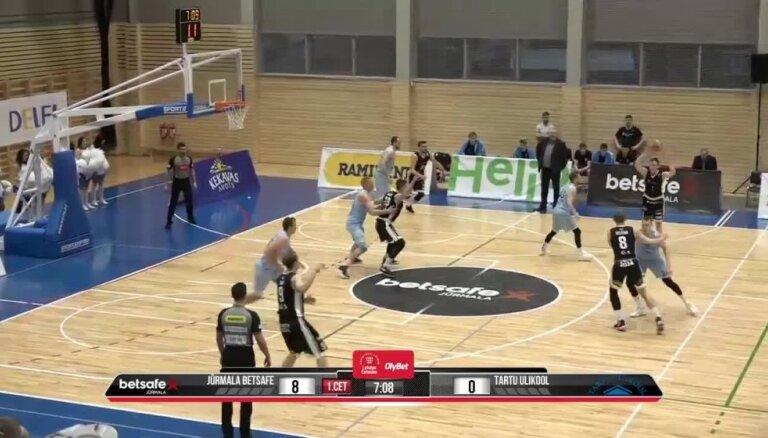 'OlyBet' basketbola līga: 'Betsafe/Jūrmala' - 'Tartu Ulikool'. Spēles labākie momenti